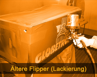 Ältere Flipper (Lackierung des Gehäuses)