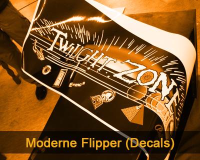 Moderne Flipper (Verkleben von Decals)